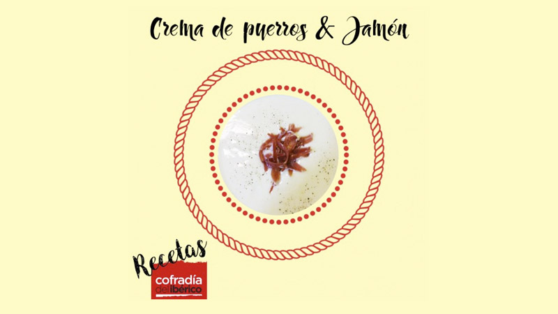 Recetas Gourmet: Crema de jamón serrano con puerros para dos